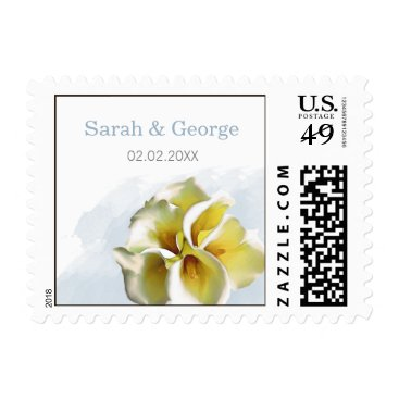 watercolor calla lilies floral wedding stamps