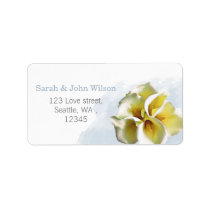 watercolor calla lilies return address label