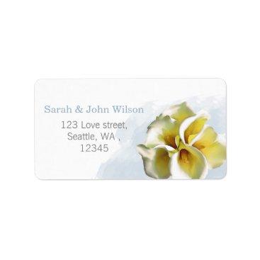 watercolor calla lilies return address label