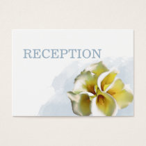 watercolor calla lilies wedding reception invite