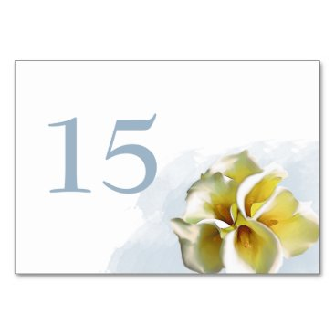 watercolor calla lilies Wedding table numbers