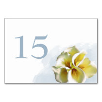 watercolor calla lilies Wedding table numbers Card