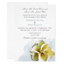 watercolor calla lily Floral wedding Card