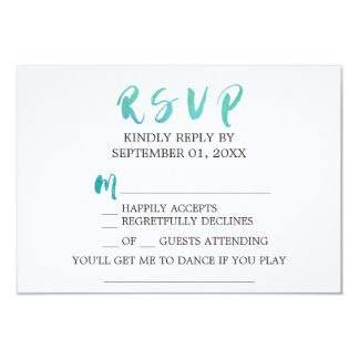 Watercolor Calligraphy Beach Song Request RSVP Card