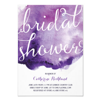 Watercolor Calligraphy | Bridal Shower 5x7 Paper Invitation Card