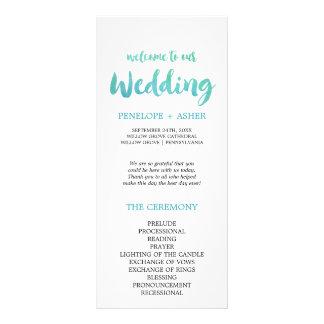 Watercolor Calligraphy Destination Wedding Program