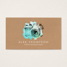 Watercolor Camera Photographer Business Cards at Zazzle