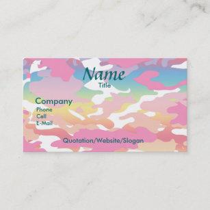 Camouflage business cards zazzle watercolor camo business card colourmoves