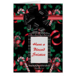 Watercolor Candy Canes Greeting Card