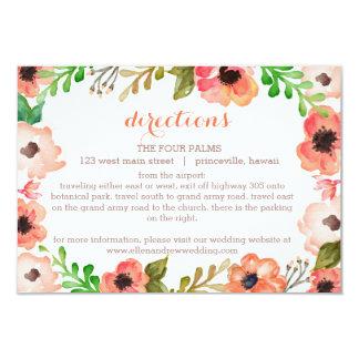 Watercolor Canopy Wedding Enclosure/Direction card