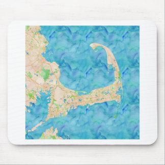 Watercolor Cape Cod Map Mouse Pad