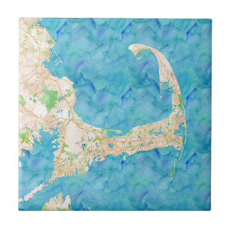 Watercolor Cape Cod Map Tile