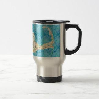 Watercolor Cape Cod Map Travel Mug