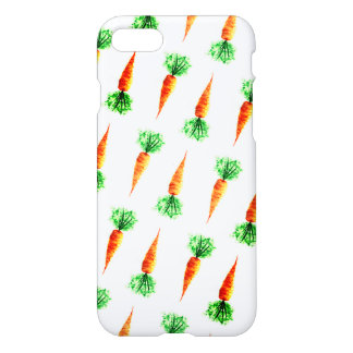 Watercolor carrots healthy eating themed iPhone 8/7 case
