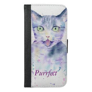 Watercolor Cat Iphone 6 Plus Wallet Case