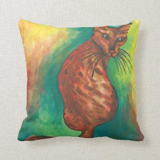 watercolor cat pillow
