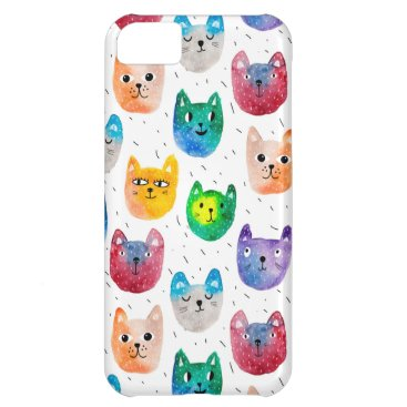 Watercolor cats and friends case for iPhone 5C