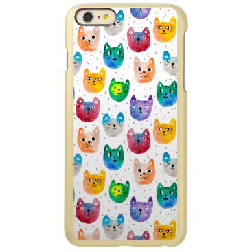 Watercolor cats and friends incipio feather shine iPhone 6 plus case