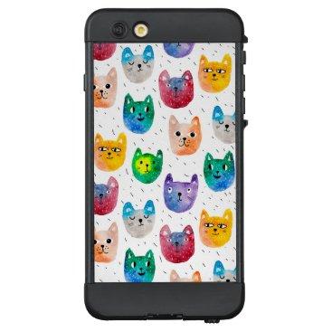 Watercolor cats and friends LifeProof NÜÜD iPhone 6 plus case
