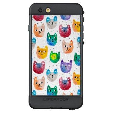 Watercolor cats and friends LifeProof NÜÜD iPhone 6s plus case