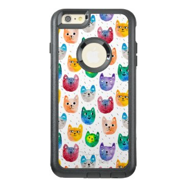 Watercolor cats and friends OtterBox iPhone 6/6s plus case