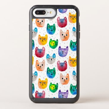 Watercolor cats and friends speck iPhone case