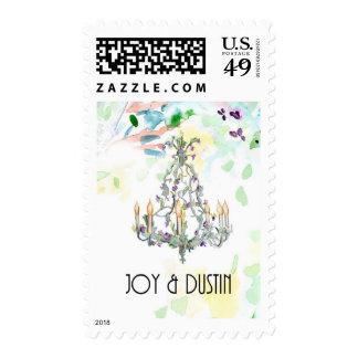 Watercolor Chandelier Stamp
