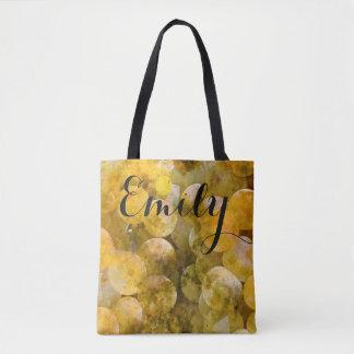 Watercolor Chardonnay Grapes Tote Bag