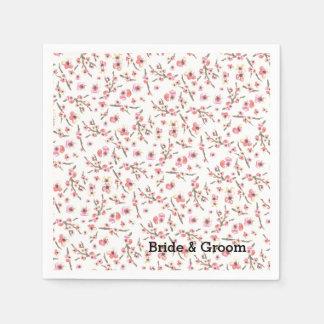 Watercolor Cherry Blossom Disposable Napkin