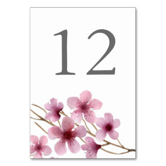 Watercolor Cherry Blossoms Card