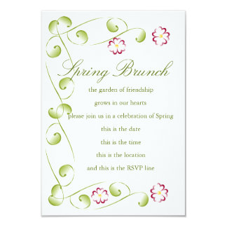 Watercolor Cherry Red Blooms Card
