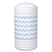 watercolor chevron zigzag beverage cooler