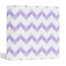 watercolor chevron zigzag binder