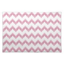 watercolor chevron zigzag cloth placemat