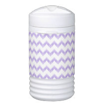 watercolor chevron zigzag cooler