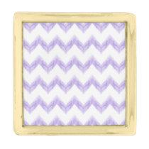 watercolor chevron zigzag gold finish lapel pin