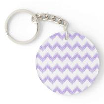 watercolor chevron zigzag keychain