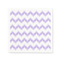 watercolor chevron zigzag napkin