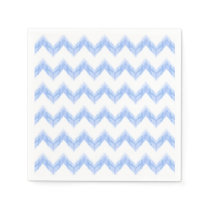 watercolor chevron zigzag paper napkin