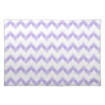 watercolor chevron zigzag placemat