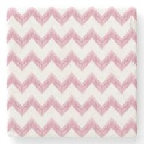 watercolor chevron zigzag stone coaster