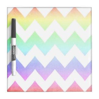 Watercolor Chevrons Dry Erase Board