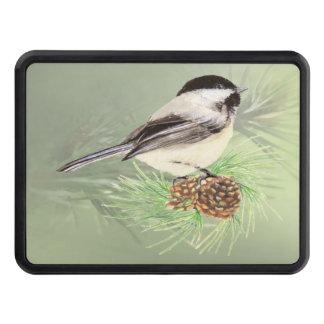 Watercolor Chickadee Bird Nature Art Trailer Hitch Covers