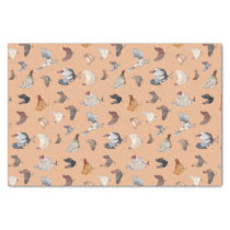 Watercolor Chicken Print Rose Gold Tissue Paper
