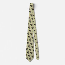 Watercolor Chicken Rooster  Barn Pattern Neck Tie