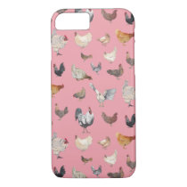 Watercolor Chickens iPhone 8/7 Case