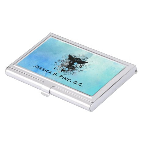 Watercolor Chiropractic Business Card Holder