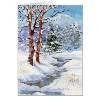Watercolor Christmas Card W-33