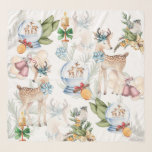 """Watercolor Christmas Deer and Winter Bird Scarf<br><div class=""""desc"""">Watercolor Christmas Deer and Winter Bird design. Easy to personalize. Feel free to contact me if you have any questions. Matching products can be found in Christmas Fairy tale collection.</div>"""
