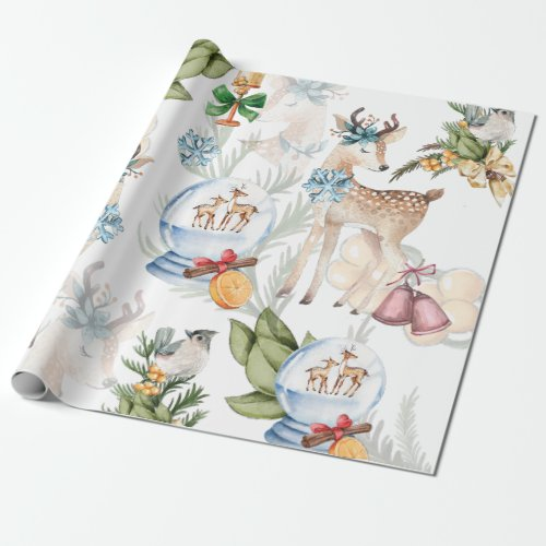 Watercolor Christmas Elegant Wrapping Paper
